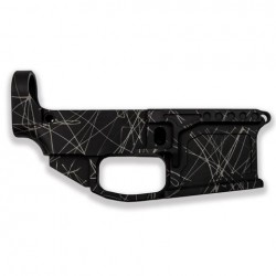 AR-15 80% BILLET Stripped Lower Receiver GREY/BLACK SPLATTER
