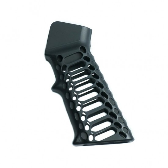 AR-15 Aluminum Grip -Cobra Skeleton Black Anodized