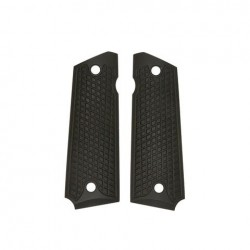 DIAMOND PLATE (black)- Full Size 1911 Grips