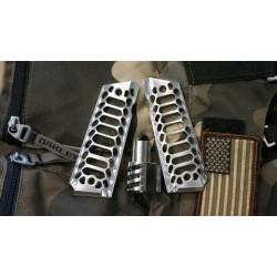 [STAINLESS] Predator Muzzle Brake + [BRUSHED] Cobra Skeleton Grips + FREE Spring Plug
