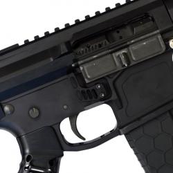 Extended Skeletonized AR-15 Magazine Lock BLACK